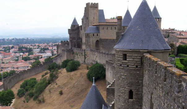 French house southern France rental Carcassonne UNESCO renown fortified medieval citadel within its walls is a vibrant market town